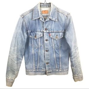 Levi's BF Trucker Faded Classic Denim Jean Jacket